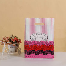 10/LOT Big Gift Bags For Cookies Jewelry Supermarket Plastic Bag For Clothes Shops Storage Shopping Bag Party Supplies 25*35