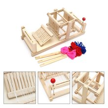 New Large Chinese Traditional Wooden Table Weaving Loom Machine Model Hand Craft Toy Gift For Children Adult(China)