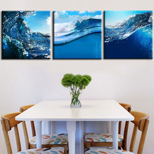 2017 Wall Poster Painting Art Picture Ocean Waves Sea Stoll Freely Canvas Paint Print 3Planes Home Decor For Living Room