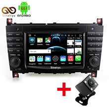 Android 6.0 Car DVD GPS Player For Mercedes Benz C-Class W203 W209 Auto Navigation 1024*600 Radio Wifi Octa Core RAM 2GB + 32GB