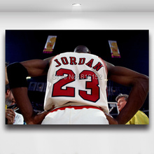 Michael Jordan 23 Basketball Star Picture Printed on Canvas Painting Boy's Room Wall Decor