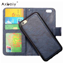 AXBETY Magnetic Flip Case iphone 7 8 Case Fashion Wallet Leather Holder Back Cover iphone 7 8 Plus Stand Phone Cases