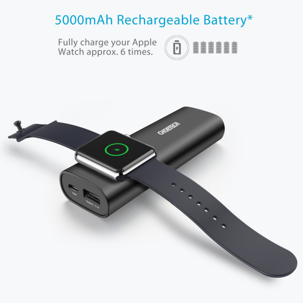 Power Bank 5000mAh CHOETECH Mobile Power Bank for Xiaomi Baterry External Universal Mobile Phone Charger for Huawei
