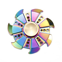 Buy 2017 Hand Spinner Zinc alloy Metal Fidget Spinner Tri Rainbow Colorful EDC Gyro Toys Top Spinner Hand Kids Adults B0022 for $4.99 in AliExpress store