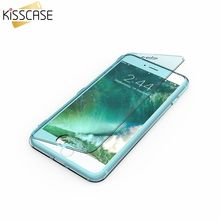 KISSCASE Case for Samsung S7 edge S7 S5 Silicone TPU Clear Flip Case for iPhone 6 6S 7 7 Plus Crystal Cover Ultra Thin Coque