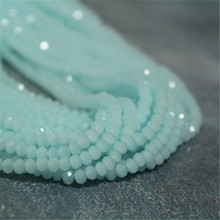 4mm Rondelle Facet Mint Crystal Beads, 100pcs,Top Quality,  Free Shipping B448
