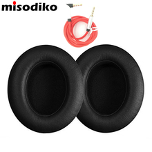misodiko Replacement Earpads Ear Pad Cushions for Beats Studio 2.0 Wired Wireless Over-Ear Headphone Pads with AUX Cable, Black(China)
