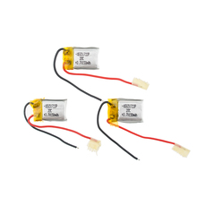 3pcs 3.7V 150mah Syma s107 Lipo Battery 851723 Skytech M3 Replacement Spare Parts RC(China)