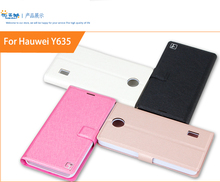 New Arrival For HUAWEI Ascend Y635 Case Hight Quality Leather Cell Phone Cover Book Style Stand Case For HUAWEI Ascend Y635