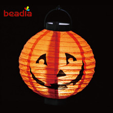 Halloween Pumpkin Light Illuminated Paper Lantern Portable Four Style to Choise Halloween Props Outdoor Party Accessories