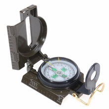Portable Army Green Metal  Folding Lens Compass Multifunction American Military Marching Lensatic Camping Compass