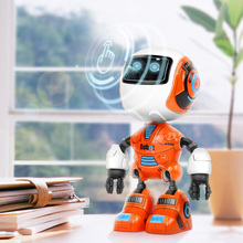 Head Induction Touch Sensor Electric Robot Kid Early Educational Dialogue Toy Home Decoration Model Joint Rotation Sound(China)
