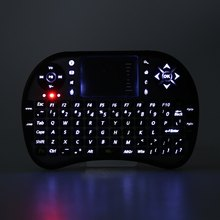 M2S UKB-500-RF QWERTY Russian English 2.4GHz Mini Wireless Backlight Keyboard Air Mouse Touchpad Remote Control for PC TV Box