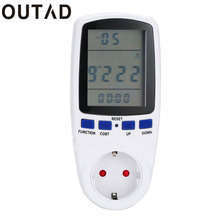 OUTAD Digital Energy Power Meter Watt Volt Amp Frequency Monitor Analyzer 230V 50Hz Kwh Power Switch Kitchen Timer Drop Shipping(China)