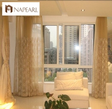 Free shipping embroidered cloth curtain screens the living room bedroom curtains custom pastoral modern yarn gauze screens