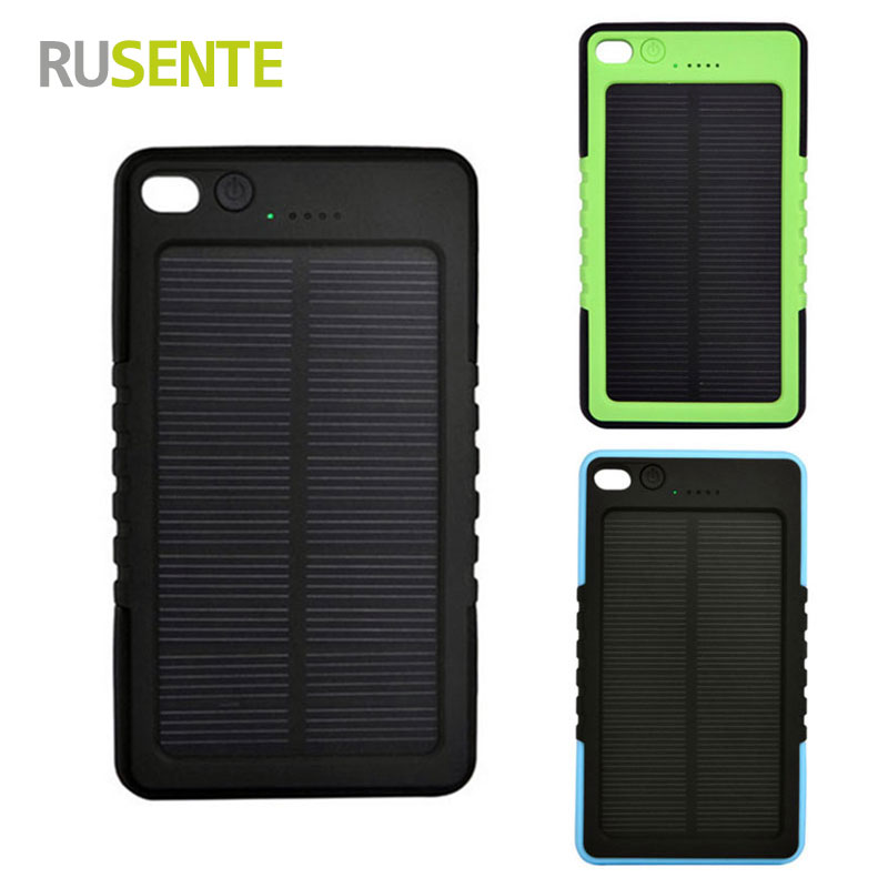 High quality Portable Solar font b Power b font font b Bank b font 8000mAh External