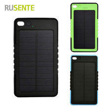 High quality Portable Solar Power Bank 8000mAh External Battery Charger Pack for iPhone Samsung HTC Huawei