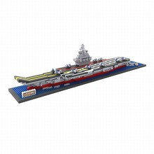 LOZ The Aircraft Carrier China Army DIY Assemble Building Blocks Model Classical Toys Gift for Children