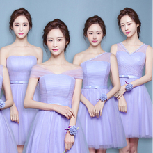 6 styles bridesmaids lavender dress sizes 6 lilac convertible bridesmaid dresses short wedding and events FREE SHIPPING R3566