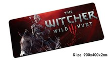 witcher mouse pad 900x400mm pad to mouse notbook computer mousepad best seller gaming padmouse gamer laptop keyboard mouse mats(China)