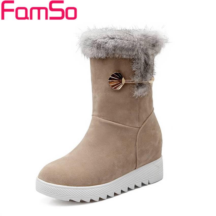 Size34-43 2017 New Sexy Women Boots Wedges Autumn Tassel Boots Lady Winter Waterproof Warm Fur Snow Boots SBT2801<br><br>Aliexpress