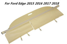 JIOYNG High quality Car Rear Trunk Security Shield Cargo Cover For Ford Edge 2015 2016 2017 2018 ( black, beige)(China)