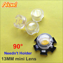 100pcs 13mm Infrared IR LED mini Lens Angle 90 Degree 1W 3W monitoring  High Power LED Diode Reflector Collimator