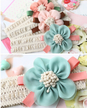 1pcs Fashion Design New Girls Headband Beautiful Kid hair band born Chiffon Flower Headwear Hair Accessories xth011-1(China)