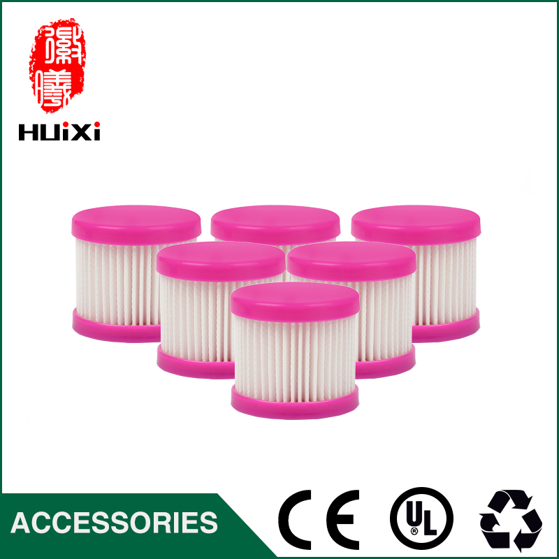 6pcs Vacuum Cleaner HEPA Filter +1pcs Filter Casing + 1pc Cleaning Brush D-602 D-602A D-607 D-609 Vacuum Cleaner Accessories