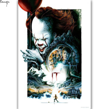 ZP382 Hot New IT Movie Stephen King Horror 2017 US Film Art Poster Silk Light Canvas Painting Print For Home Decor Wall Picture