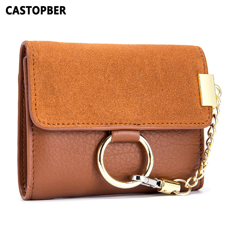 New Designer Fashion Cow Genuine Leather Women Short Wallets Ladies Purse Wallet Female Small Clutch High Quality Famous Brand<br>