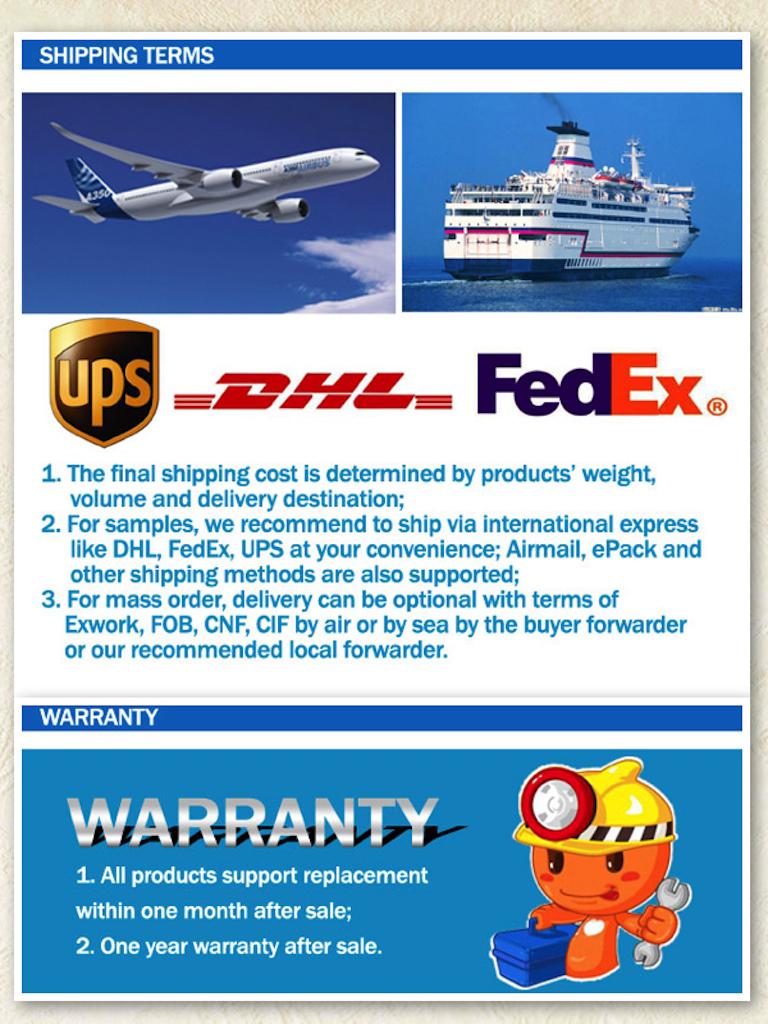 Shipping&warmty