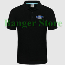Ford car logo Polo shirt 4S shop short sleeved polo shirt overalls women and mens