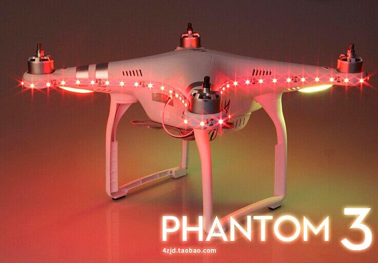DJI Phantom 3 Quadcopter LED Night Pilot Lamp Light Kit Strip In Nighttime Flight<br><br>Aliexpress