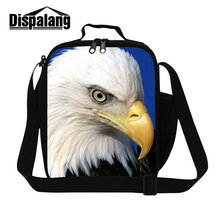 Dispalang animal eagle bird custom design women kids men cooler lunch box bag top quality thermal students school meal food bags