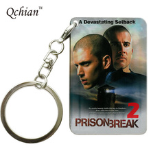 Prison Break series Print Keychain Pretty Nice Gift Memorable Keyring Key Holder Pictures can be Customized(China)