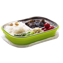 1Pcs Stainless Steel  Bento Lunch for Kids Thermal Food Container Portable Picnic Food Box