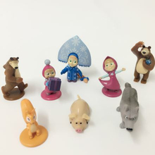 Russian Masha And Bear action Figures Baby Children Best  Animals Gift Russia Unique Gifts Random style XSJ018