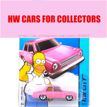 1 64 Hot Sale Hot Simpsons Family Pink Car Models Wheels  Metal Diecast Car Collection Kids Toys Vehicle For Children Juguetes