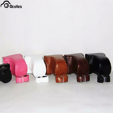 Ocotex PU Leather Camera Bag Case Cover for Canon EOS M10 15-45mm 55-200mm 5 Colors(China)