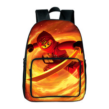 Cartoon Movie Lego School Backpacks Boys Girls School Bags Gifts Ninjago Batman Cartoon Backpacks Mochila Travel Backpacks