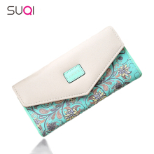 SUQI Famous Brand Designer Luxury Long Walet Women Wallets Female Bag Ladies Money Coin Women Purse Carteras Cuzdan