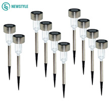 5/10/12pcs LED Solar Lawn Light Outdoor waterproof Solar Lamp Powered Garden Light  For Landscape Yard Deck Pathway
