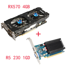 Buy Yeston Radeon RX570 4G GDDR5 Graphics Card 256bit 2048 Units 1244MHz Core Clock Dual Silent Temperature Control Fans for $610.99 in AliExpress store