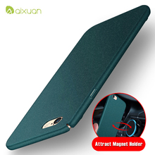 For iPhone 6 Case Original Aixuan Brand Full Body Car Holder Magnetic Case For iPhone 6 6s Plus Metal Plate Protect Cover