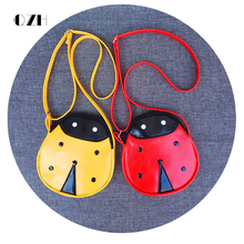 QZH Cartoon Little Baby Girls Boys Messenger Bags Ladybug Mini Shoulder Bag Crossbody Kids Children Zero Purse Pouch Handbags