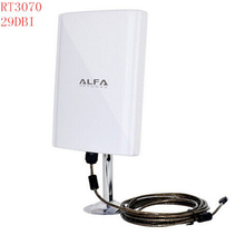 Wireless USB WiFi Adapter Receiver ALFA 039H Pannel 58dbi Antenna Outdoor wi-fi antenna waterproof High Power Chipset 3070