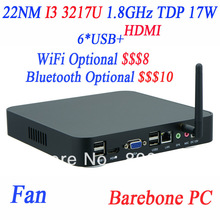 Barebone PC itx mini pc computer thin client station with I3 3217u 1.8Ghz with Intel NM70 Express Chipset
