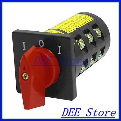 AC 380V 10A 12 Terminals 3 Positions Rotary Changeover Cam Switch HZ5B-10/3<br><br>Aliexpress
