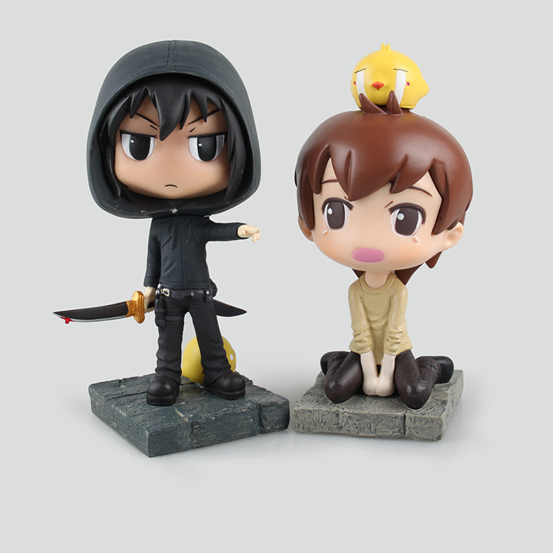 Anime Tomb Note Kylin Zhong &amp; Xie Wu PVC Action Figure Collectible Model Toy 14.5cm KT1868<br>
